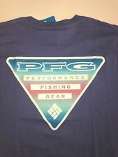 Columbia New PFG Fishing Gear Short Sleeve Graphic T-Shirt Men's XL Purple