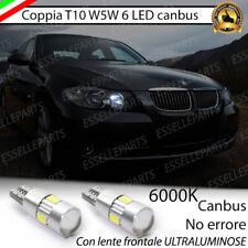 COPPIA LUCI DI POSIZIONE 6 LED T10 CANBUS 6000K BMW SERIE 3 E90 E91 BIANCO
