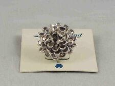 Lucky Brand Silvertone Rose Bud Floral Flower Ring Size 7 JLRU8102 $35