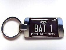 BATMAN BATMOBILE NUMBER PLATE BADGE KEY FOB KEYFOB OR BOTTLE OPENER GIFT