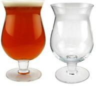 Set of 2 Anchor Hocking Belgian Beer Glass - 13 oz - Belgium Bar Tulip Pint Mug