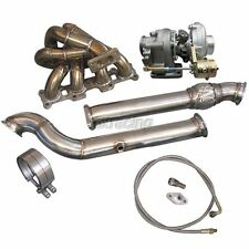 CXRacing Turbo Manifold DownPipe Kit For Mazda Miata MX-5 1.8L NA-T T3 Top Mount