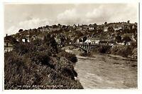 Antique RPPC real photograph postcard The Free Bridge Ironbridge
