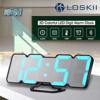 Loskii HC-26 115 Color 3D LED Alarm Clock Temperature Monitor IR Remote & Sound