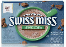 Swiss Miss, No Sugar Added, Hot Cocoa Mix 8 Individual Packages