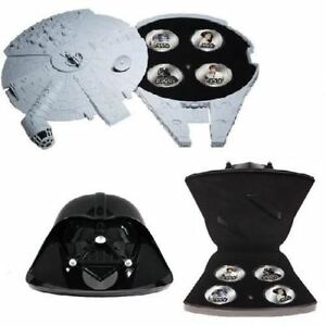 Star Wars OFFICIAL Silver Plated Coins Set with Motion Sensor Sound Storage Case