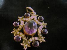 9 Carat Amethyst Yellow Gold Edwardian Fine Jewellery
