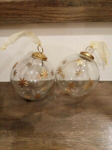 Antique Vintage Glass Christmas Hanging Balls Ornament
