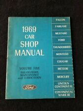 1969 Car Shop Manual Volume 5 Pre-Delivery, Maintenance and Lubrication