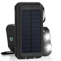 Solar LED 500000mAh Power Bank Charger Case DIY Waterproof Dual USB+No BattPLUS