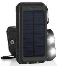 Solar LED 50000mAh poder banco cargador caso DIY impermeable doble USB