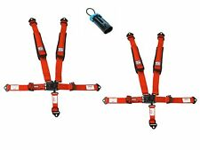Simpson Latch Harnesses 2x2 Red W/Black Hardware Bolt In No Pads Polaris Bypass