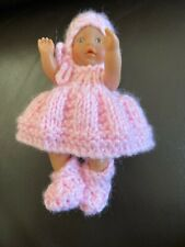 Zapf Creation Mini Baby Born Doll With Hand Knitted Clothes