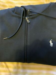 Men's POLO RALPH LAUREN BRAND NEW WITH TAGS blue zip hoodie, size XL (large)