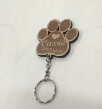 Personalised Engraved Pet Memorial Keyring - In Loving Memory Pet Photo Dog
