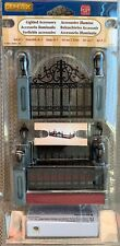 New Lemax Lighted Wrought Iron Fence Accessory 54303 Christmas Village