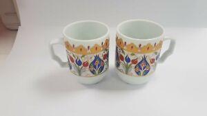 Handmade Ceramic Tea/Coffee Mugs - Hand Painted Turkish Pottery