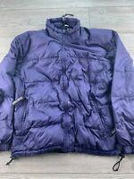 *Sierra Designs Purple Quilted Puffer Packable Full Zip Up Coat Jacket Womens L