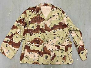 Desert Storm Era 6 Color Chocolate Chip Uniform Shirt XL US Army