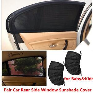 2x Car Side Rear Window Sun Visor Shade Mesh Cover Shield UV Protector Size L