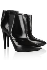 PIERRE HARDY Women's Black Glossed leather Ankle Boots Size 39 US 9 NEW  $995