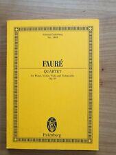 Noten. Faure. Klavierquartett g-Moll op. 45. Taschenpartitur.