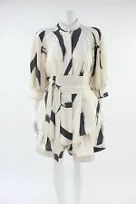 Zimmermann Nude Graphic Belted Blouse & Shorts Co-ord Outfit Size 3 UK 12