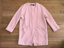 ZARA WOMAN peach salmon color zip jacket Peacoat sz S