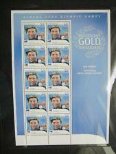Australia 2004. Athens Olympics. Ian Thorpe 400m Freestyle Sheet Mint.