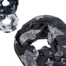 Ein Kinder Loopschal Tuch große Sterne grau marine weiß