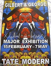 GILBERT & GEORGE 'Fates' (detail), 2007 SIGNED Tate UK Exhibition Poster **NEW**
