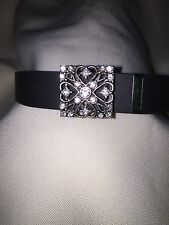 Bling for fitbit flex- Delicate Silver antique looking with clear gemstones