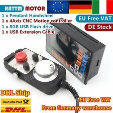 4Axis 500KHZ Motor Motion Controller Offline Stand Alone CNC G Code+Handwheel|IT