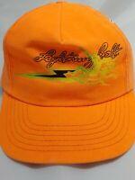Lightning Bolt Baseball Cap Hat Orange Snapback Adjustable USA