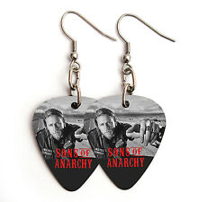 SONS OF ANARCHY guitar pick plectrum pick silver tone EARRINGS