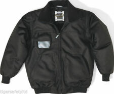 Cappotti e giacche da uomo Bomber, Harrington in pile nero