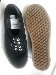 Vans Era Black Classic Gum Womens 7.5 Men's 6 Skate Shoes New Xmas Gift