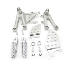 SILVER Front Rider Foot Pegs Bracket Fit For Honda Cbr1000Rr 2004 2005 2006 2007