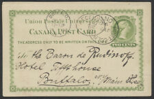 1898 #P4 2c Victoria UPU PC, Unusual Use to USA from Port Colborne Ont
