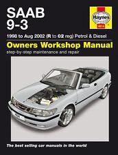 Saab 9-3 (1998-2002) Reparaturanleitung workshop repair service manual Buch book