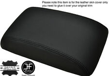 BLACK STITCHING ARMREST LID LEATHER COVER FITS HYUNDAI SANTA FE 2006-2012