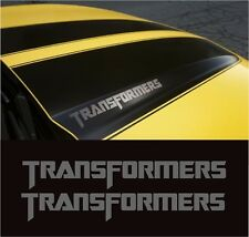 CAMARO SS AUTOBOT TRANSFORMERS EDITION HOOD DECALS STICKERS BUMBLEBEE