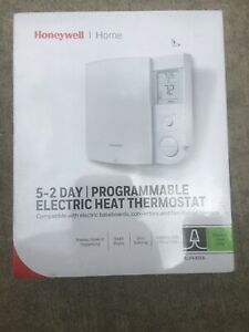 Honeywell  Heating and Cooling  Push Buttons  Programmable Baseboard Thermostat