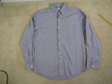 23f0a224141  198 Steven Alan Cadet Shirt in strip gray size S EUC!