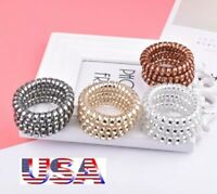 1PC//5PCS Rubber Telephone Wire Hair Ties Spiral Slinky Hair Head Elastic Band HG