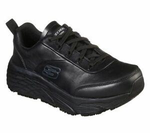 21 Hot Skechers Black Shoe Women Work Memory Foam Comfort Slip Resistant Cushion