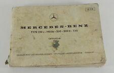 Catalogue des Pièces Mercedes Benz W110 Aileron 190c 190Dc 200 200 D 1967