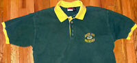 Vtg 1997 Green Bay Packers NFL Football Embroidered The Edge Size L Polo Shirt