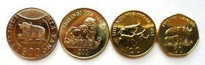 Tanzania 5 coins set 2014-2015 Animals (#7419)