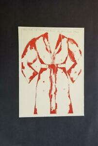 Jim Dine  Eleven Part Self-Portrait (Red Pony)  Mounted offset Lithograph  1973